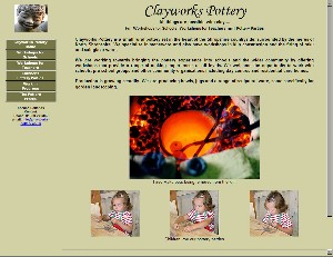 Clayworks Pottery website image