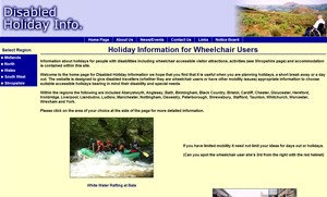 Disabled Holiday Info website image