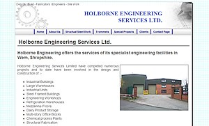 Holborne Engineering website image