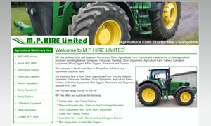 MP Hire website image