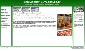 Shrewsbury Buy Local website image