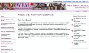 Wem Town Council website image