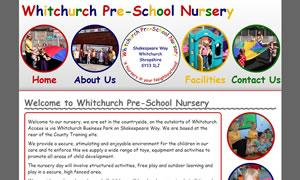 Whitchurch Pre-School Nursery website image